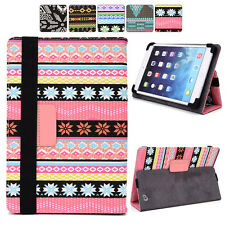 """F Tribal Canvas Adjustable Folding Folio Cover & Touch Guard fits 9.7"""" Tablet-s"""