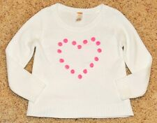 NWT GYMBOREE Valentines Day Sweater Weater White Pink Heart Sweater 5 6 7 8 NEW