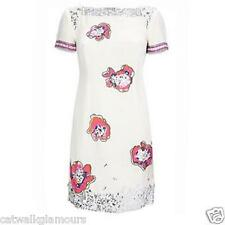 French Connection Lyndsey Flower Stone Diamante Embellished Shift Party Dress 8