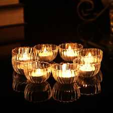 Stripe Glass Cup Tealight Candle Holders Floating cups Wishing pool Wedding deco