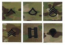 MULTICAM MULTI-CAM Camouflage Military Rank Rip-Stop Insignia Patch USA Made #3