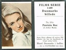 Denmark: Danmarks Coffee - Films Serie 1948 Movie Star Tobacco Cards List #3