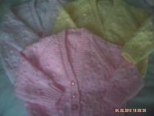 Hand Knitted Baby Cardigans Size 3-6 Months.