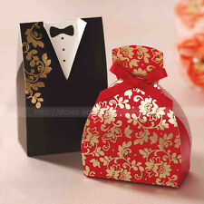 Bride & Groom Embossed Wedding Party Candy Boxes Favor Gift Boxes Wedding Favors