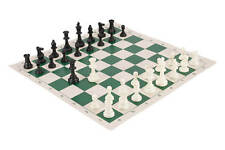 Regulation Tournament Chess Pieces and Chess Board Combo - SINGLE WEIGHTED USCF