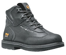 Mens Timberland PRO 85516 Internal Met Guard 6-Inch Safety Toe Boot Black (D, M)