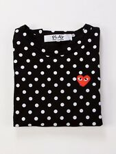 COMME DES GARCONS CDG PLAY RED HEART LONG SLEEVE SHIRT