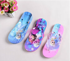 6383 New Frozen kid Flip flops children girls's Elsa Anna Sandy home shoes gift