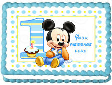 BABY MICKEY MOUSE Edible image Cake topper design