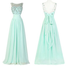 2015 NEW~ Long Bridesmaid Formal Evening Prom Ball Gown Wedding Party Maxi Dress
