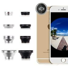 4in1 Fish Eye 180°Wide Angle Macro Telephoto Lens Camera for iPhone Samsung LG