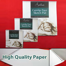 NEW 3 PACK SKETCH PADS- Cartridge Paper Drawing Sketching Painting Spiral Books