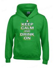 Keep Calm and Drink On  Hoodies funny St. Patrick's Day Sweatshirts