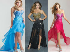 2015 Bead Cocktail Party Ball Gown Evening Prom Dress Bridesmaids Formal Dresses