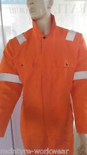 ORANGE COVERALL OVERALL BOILER SUIT DECORATER DIY MECHANIC PAINTER HI VIS