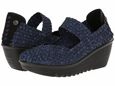 Women's Shoes Bernie Mev. Lulia Handwoven Casual Wedges Jeans *New*
