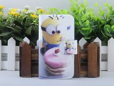 Hot Cartoon Minions Despicable me PU Leather Flip Case Cover For Lenovo Phone 14