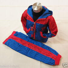 Boys Kids Jacket & Trousers Fancy Dress Outfit Superhero Costume Age 2-7 Years