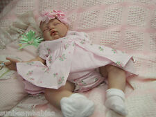 SUGAR BABY / DONNA RUBERT NEW REBORN REALISTIC FAKE BABY GIRL DOLL VERY NEWBORN