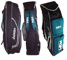 Hockey / cricket bat bag with multi storage sections in blue and purpl WH Sports