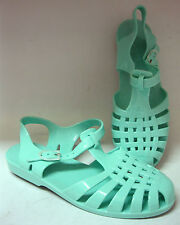 Spot on ladies jelly shoes. Mint green synthetic. F0711