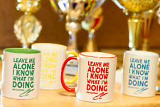 KIMI RAIKKONEN LEAVE ME ALONE I KNOW WHAT I'M DOING Lotus mug coffe tea/cup gift