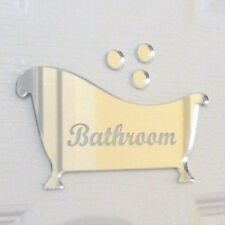 Engraved Bath Bathroom Door Sign