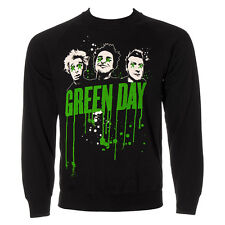 Official Green Day Unisex Black Drips Crew Sweatshirt Jumper ALL SIZES