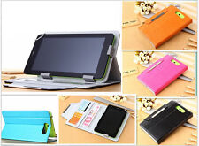 """For BLU Studio 7.0 D700a D700i Tablet 7"""" Pad Tab Stand Leather Case Pouch Cover"""