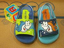 New RIDER Flip Flops Sandals Shoes Baby Kids Toddler Boys Blue Summer Beach Size