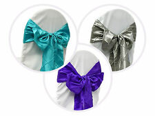 10 Pintuck CHAIR SASHES Bows Ties for Wedding PARTY Banquet Linens Decorations