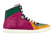 GUCCI WOMEN'S SHOES HIGH TOP TRAINERS SNEAKERS NEW FUXIA  AD1