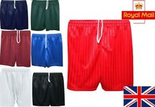 School Shorts Kids Boys Girls Men Football Short Sports Ware Gym PE All Sizes