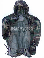 ORC Woodland Army Improved Rainsuit Wet Weather Rain Jacket Parka Coat +Liner