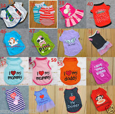 HOT SALE Pet Puppy Summer Shirt Small Dog Cat Pet Clothes Vest T Shirt Dress