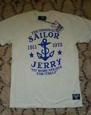 Sailor Jerry My work  t-shirt, beige, tattoo, rockabilly