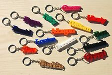 Personalised Acrylic Name Keyring / Laser Cut Key Fob Key Chain Various Colours