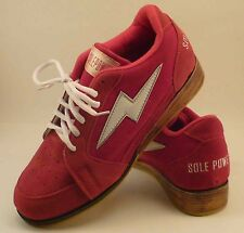 Olympic Weightlifting Shoes.  Suede with wooden heel insert and crepe sole