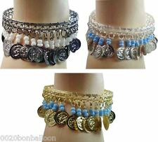 Belly Dance Dancing Costume Anklet Egyptian Gypsy Tribal Ethnic Coins  Beads 112