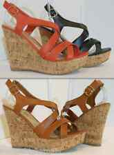 New Women's Wedge Cork High Heel Strappy Open Toe Fashion Platform Sandals Pump