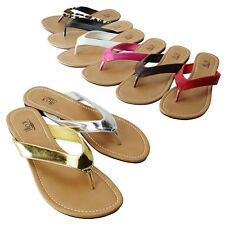 KALI Womens Summer Comfort Casual Flip Flop Thong Flat Sandal Slipper Shoes New