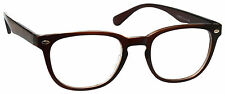 UV Reader Reading Glasses Mens Womens Designer Style Brown