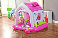 Hello Kitty Inflatable Soft Fun Cottage Play House Bouncy Kids Children Toy Mini