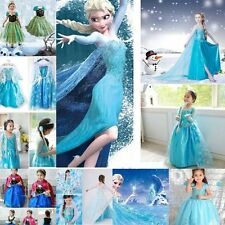 Kids Gilrs' Dresses Disney FROZEN Princess Dress Xmas Party Cosplay Costume New#
