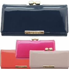 Ladies Designer Ball Clasp LYDC Large Patent Faux Leather Purse Wallet PL132B
