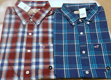 NWT Hollister Santa Monica Button Down Plaid Shirt Cotton by Abercrombie