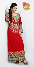 Indian Designer Maxi Long Dress Kaftan Abaya Caftan