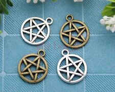 Free Ship!50pcs Tibet Silver Pagan Wicca Gothic pentagram Charms Pendant 20x16mm
