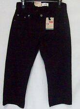 New Levi's 550 Boys Black Jeans Relaxes Fit Tapered Leg Husky Choose Sz