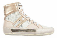 HOGAN WOMEN'S SHOES HIGH TOP LEATHER TRAINERS SNEAKERS H 207 VINTAGE PINK  A05